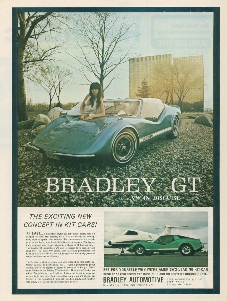 1969 Bradley GT Kit Car Advertisement