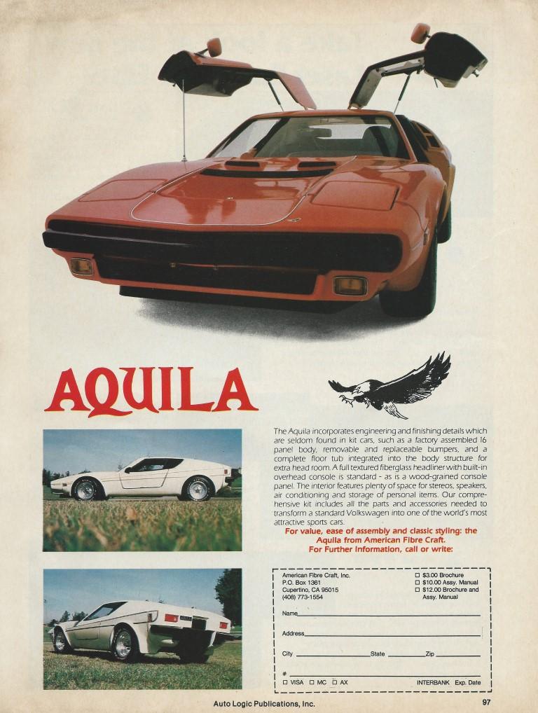 American Fibre Craft Aquila Replica Advertisement