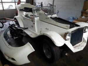 white mini mark kit car