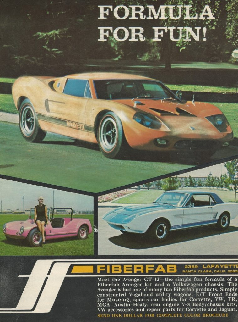 1968 Fiberfab Avenger Gt40 Replica Advertisment color