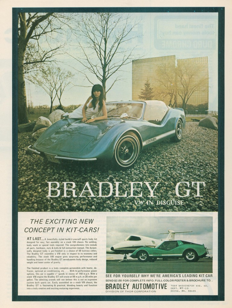 1969 Bradley GT Kit Car Advertisement