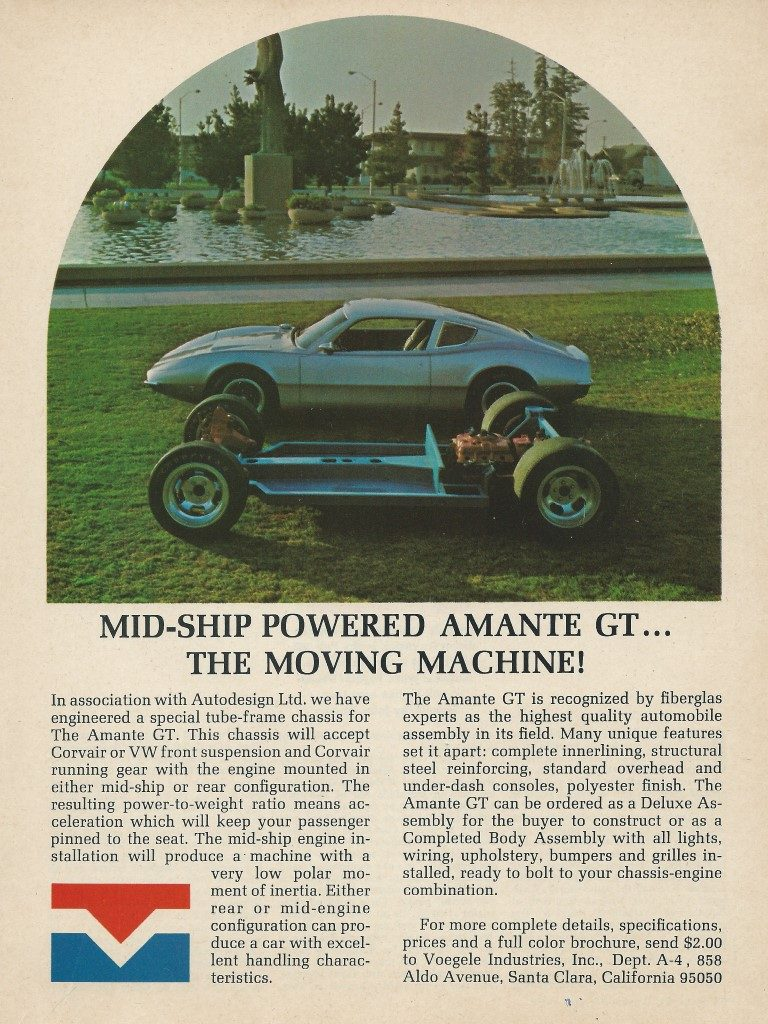 Amante GT Kit Car Advertisement Color