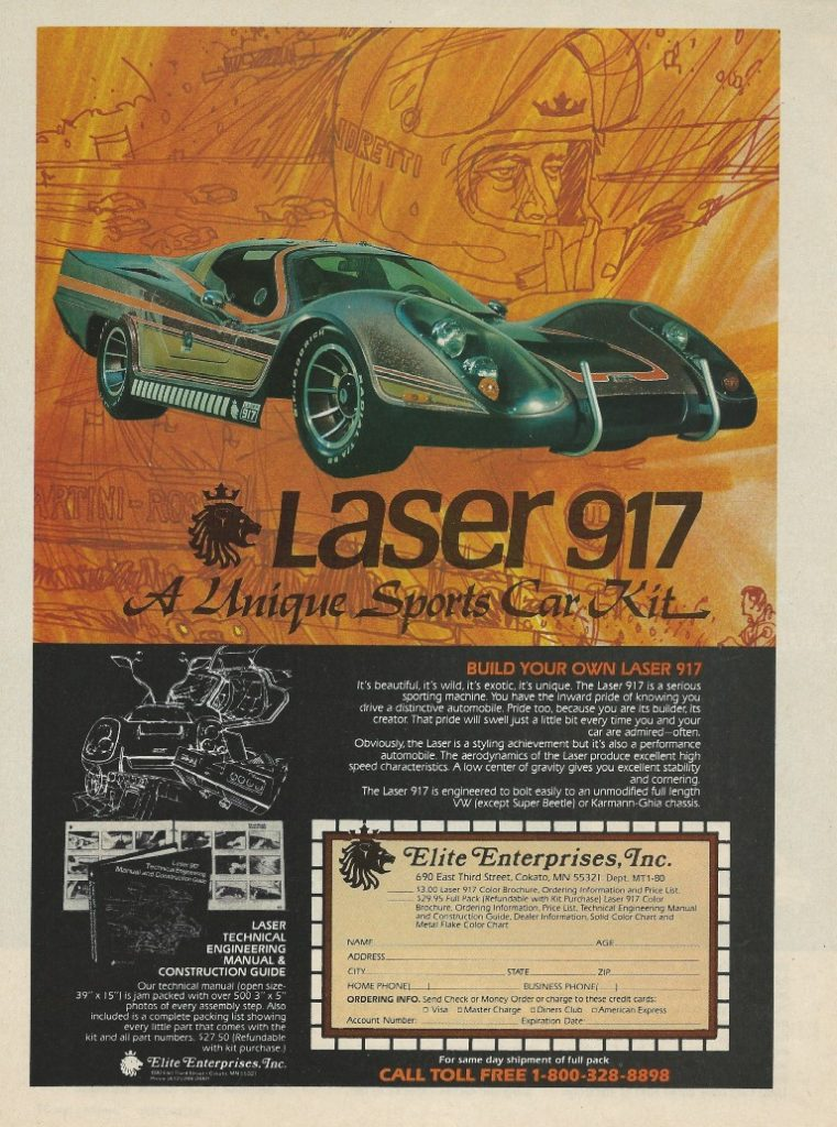Laser 917 Color Kit Car Advertisement