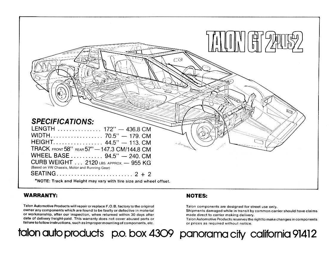 Talon Automotive Products Fiberglass Kit Car And Handcrafted Vehicle History